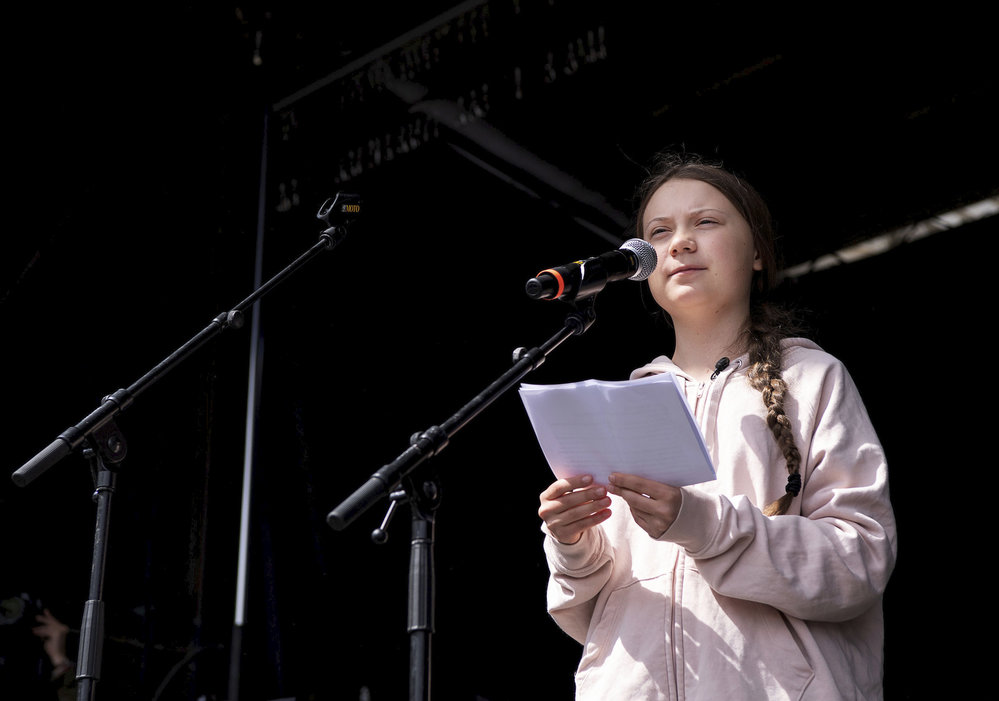 Mladá švédská aktivistka Greta Thunbergová