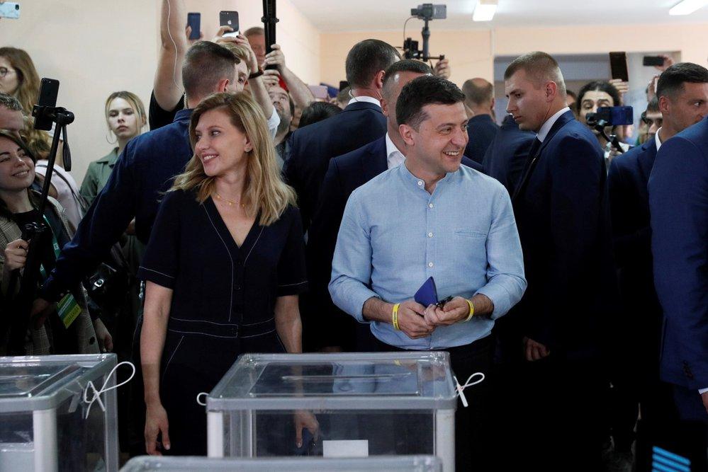Prezident Zelenskyj volí.