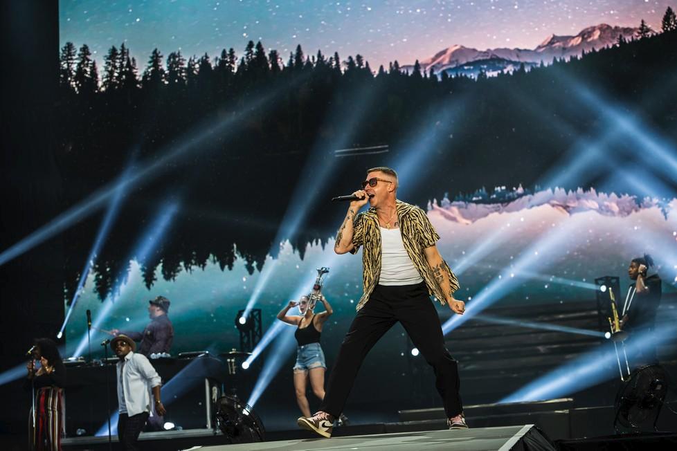 Macklemore na festivalu Sziget 2019 v Budapešti.