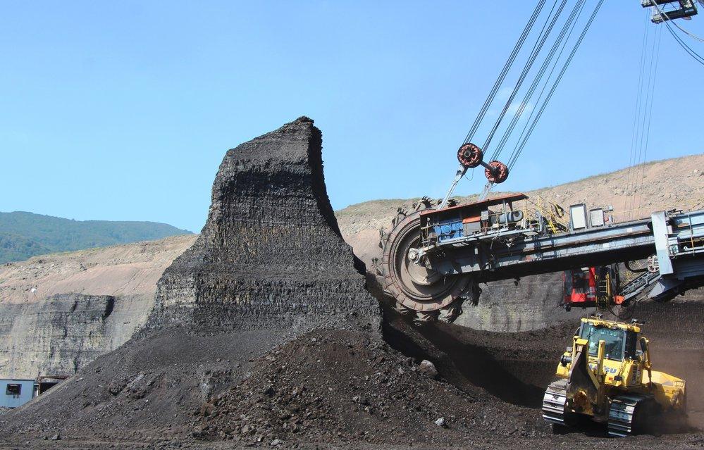 Lom ČSA společnosti Severní energetická nedaleko Mostu