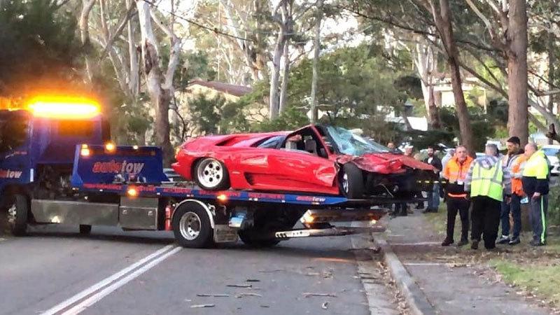 Lamborghini Diablo po havárii.