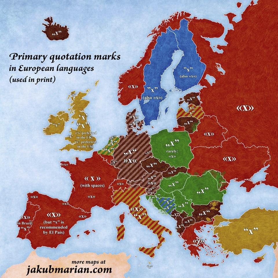 Věděli jste, kolik existuje způsobů psaní uvozovek? Pomalu v každé zemi se používá jiný.