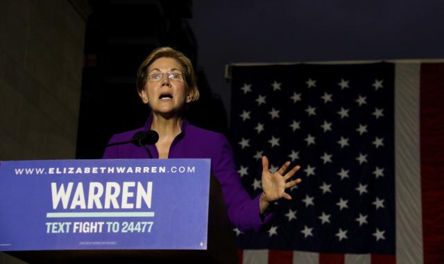 Elizabeth Warrenová, kandidátka na nominaci Demokratické strany do amerických prezidentských voleb v roce 2020