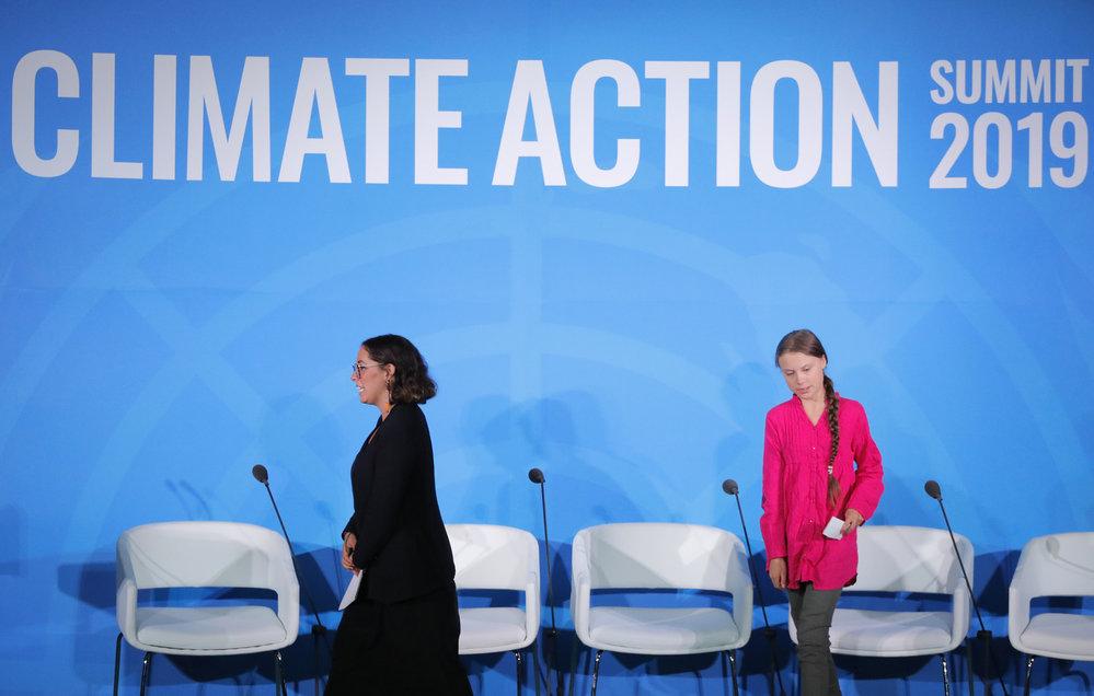 Greta Thunbergováv OSN.