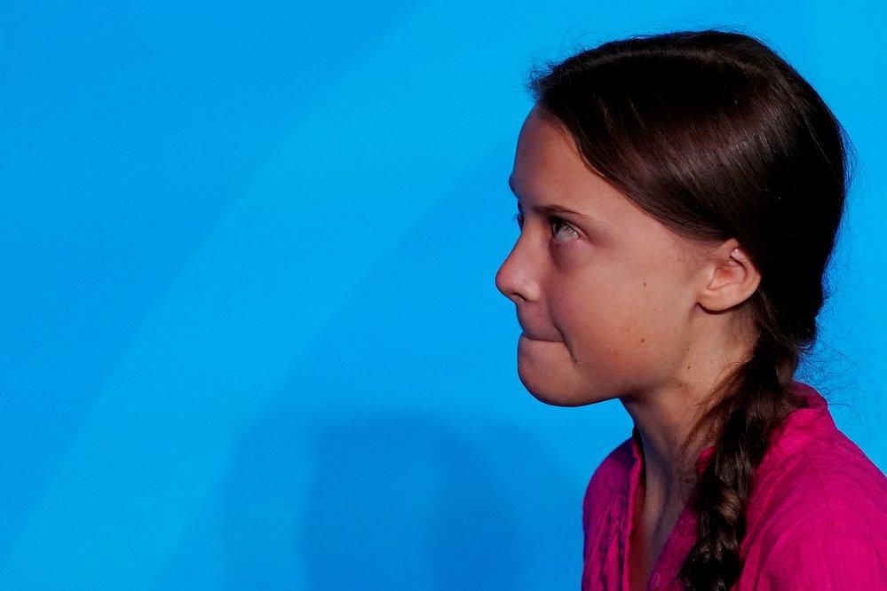 Aktivistka Greta Thunberg na summitu OSN.