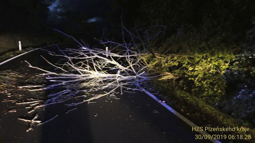Na Klatovsku, Tachovsku, Domažlicku a Plzni-sever vyjížděli hasiči již více než k 50 případům spojených se silným větrem.