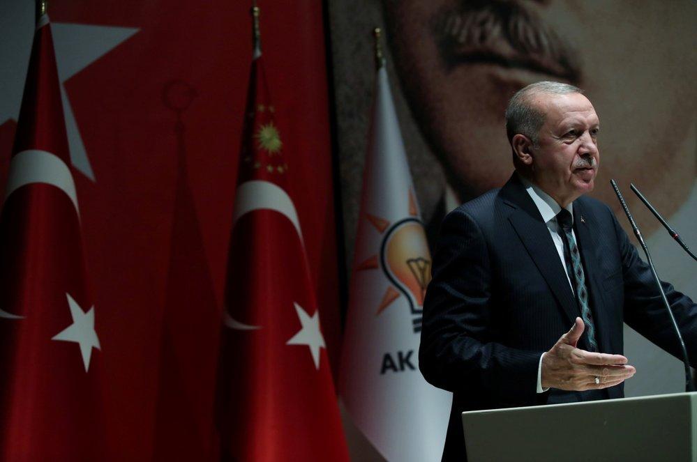 Turecký prezident Recep Tayyip Erdogan (10. 10. 2019)
