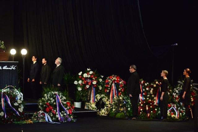 Pohřeb Vlasty Chramostové v Národním divadle