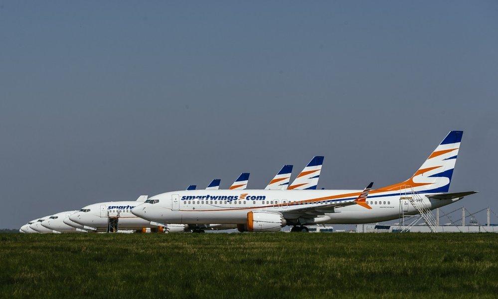 Boeingy 737 MAX Smartwings zatím stojí na letišti v Praze