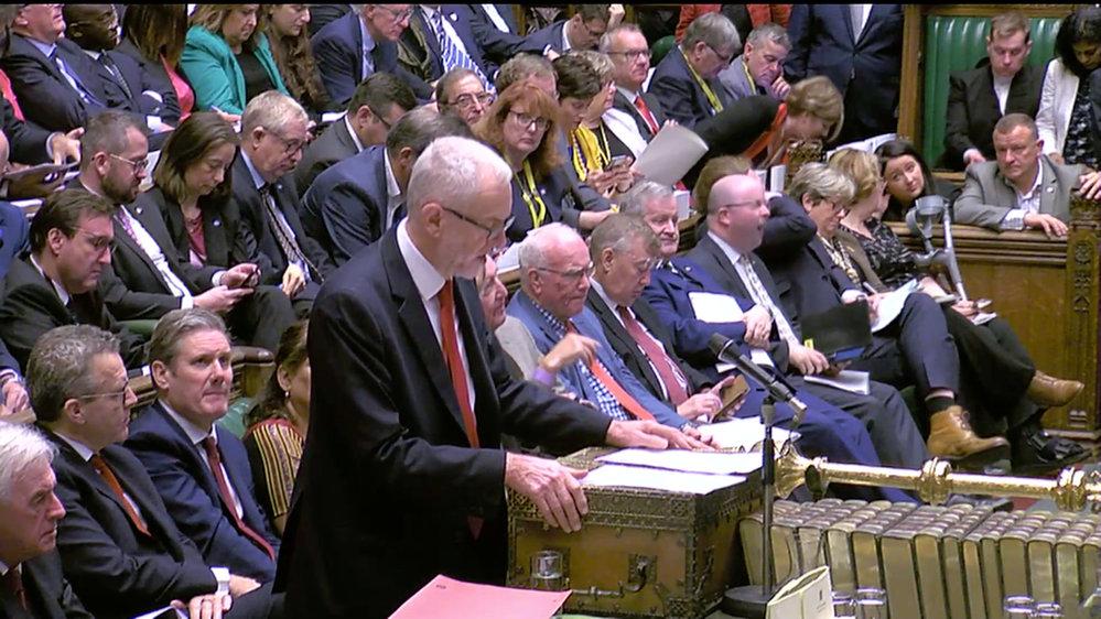 Britský parlament hlasuje o brexitové dohodě, kterou domluvil premiér Boris Johnson (19. 10. 2019)