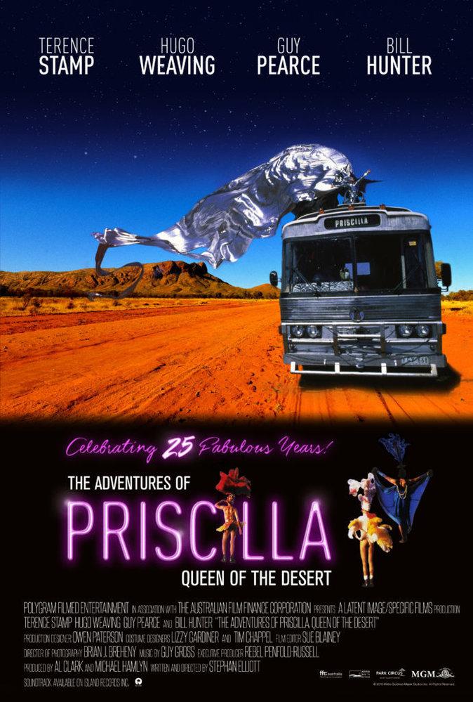 Hugo Weaving, Guy Pearce, Terence Stamp i Bill Hunter zazářili roku 1994 v oscarovém Dobrodružství Priscilly, královny pouště