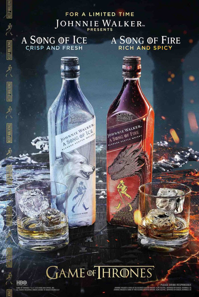 Whisky Johnnie Walker série Song of Ice and Fire