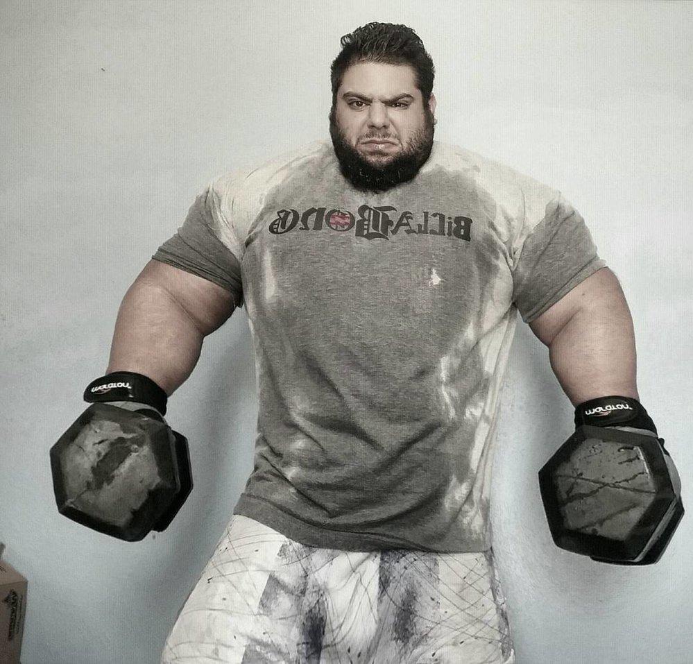 Íránský Hulk Sajad Gharibi