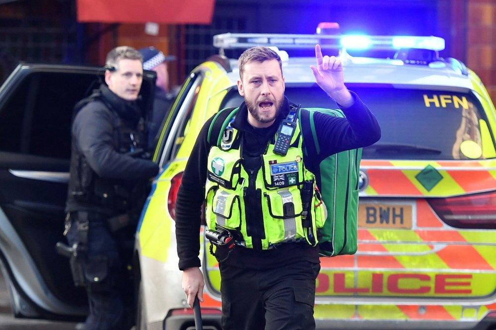 Zásah policie na London Bridge.