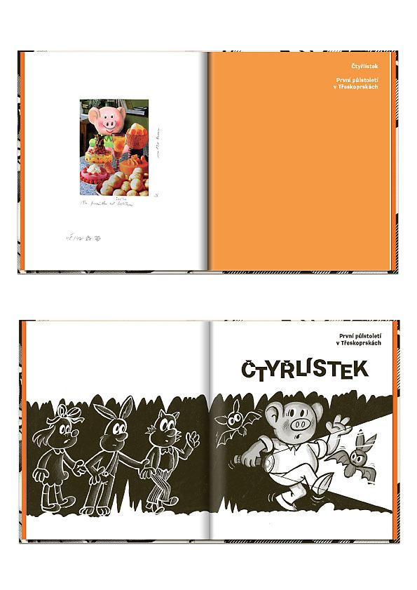 Čtyřlístek: První půlstoletí v Třeskoprskách. 500 stran, 2 599 korun.