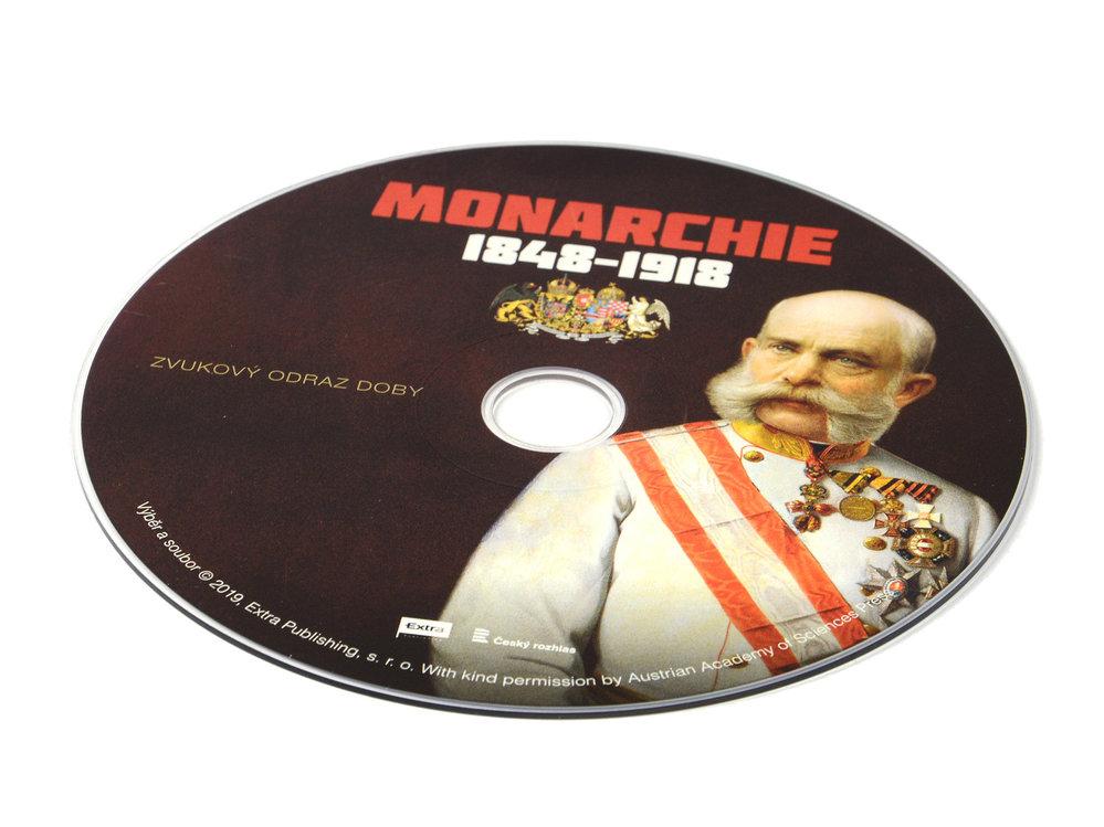 Na přiloženém CD nechybí Císařská hymna, Lehárova Veselá vdova nebo Novoroční proslov k vojákům Eduarda von Böhm-Ermolliho.