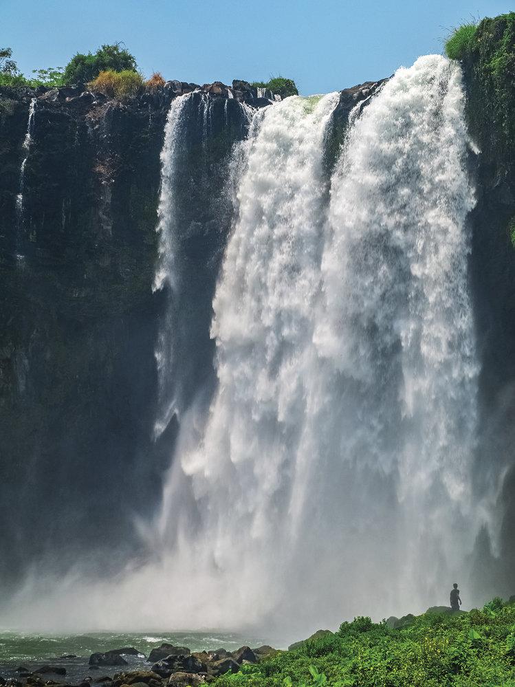 Vodopád El Salto de Eyipantla poblíž města San Andrés Tuxtla