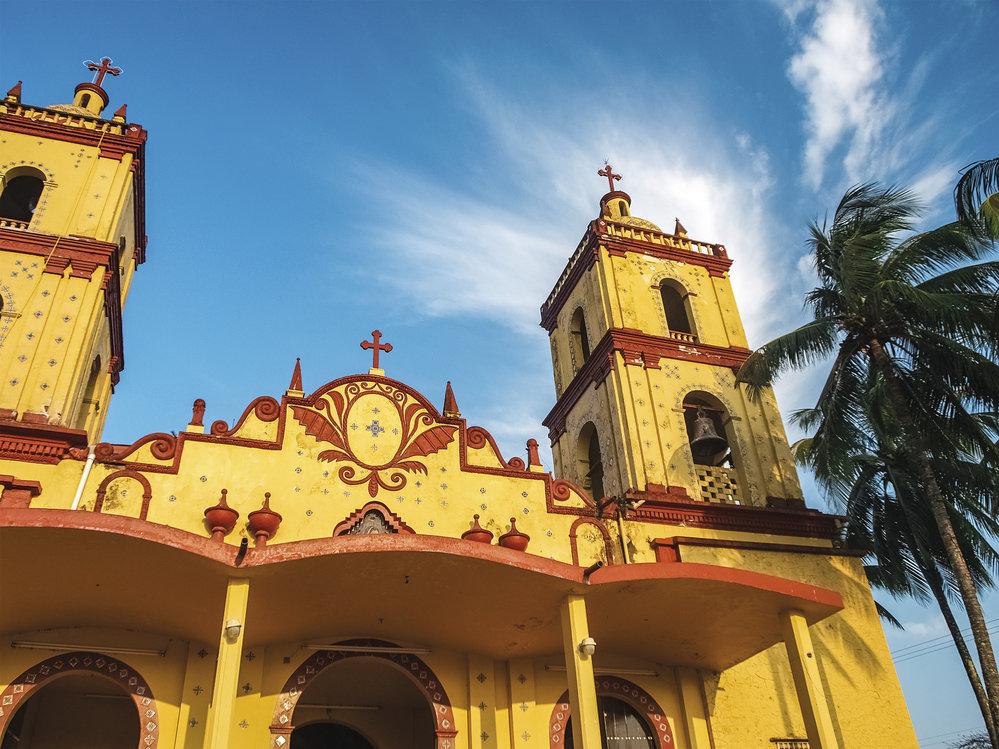Katedrála ve městě Catemaco