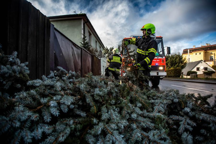 Bouře Sabine způsobila množství škod. Ve všech krajích musí zasahovat hasiči, aby škody po vichru odklidili.