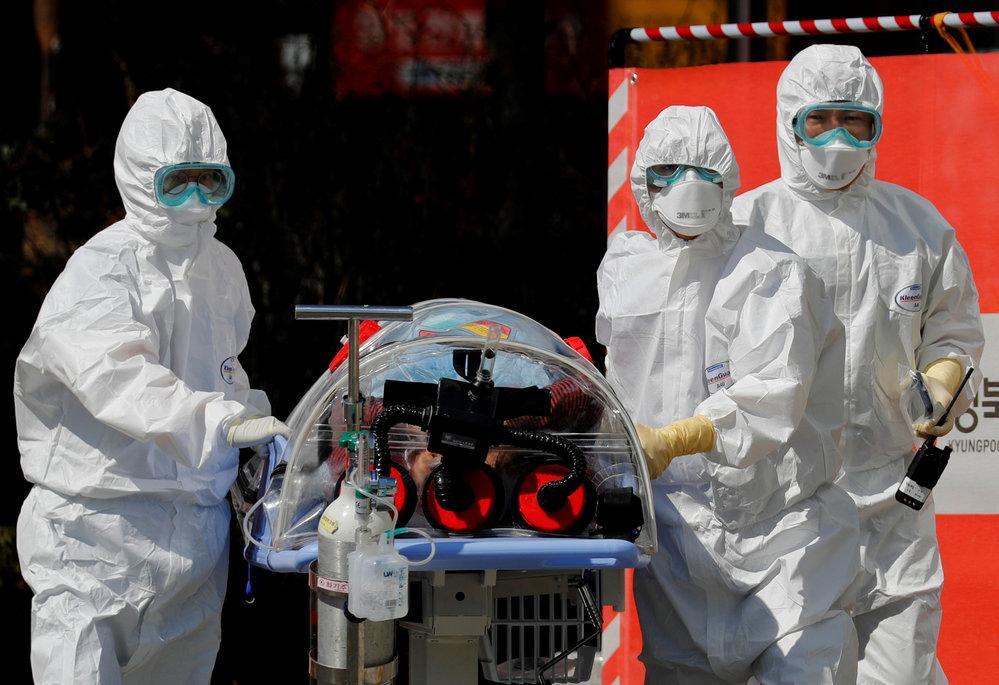 Šíření koronaviru v Jižní Koreji (6.3.2020)