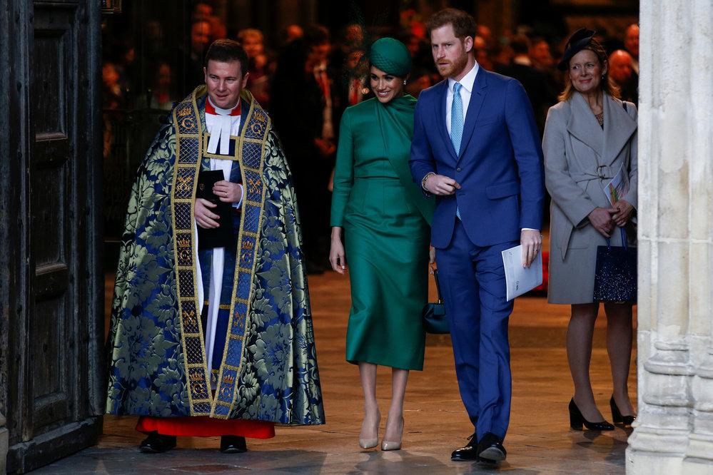 Princ Harry a Meghan na bohoslužbě při příležitosti Dne Commonwelthu ve Westminsterském opatství.