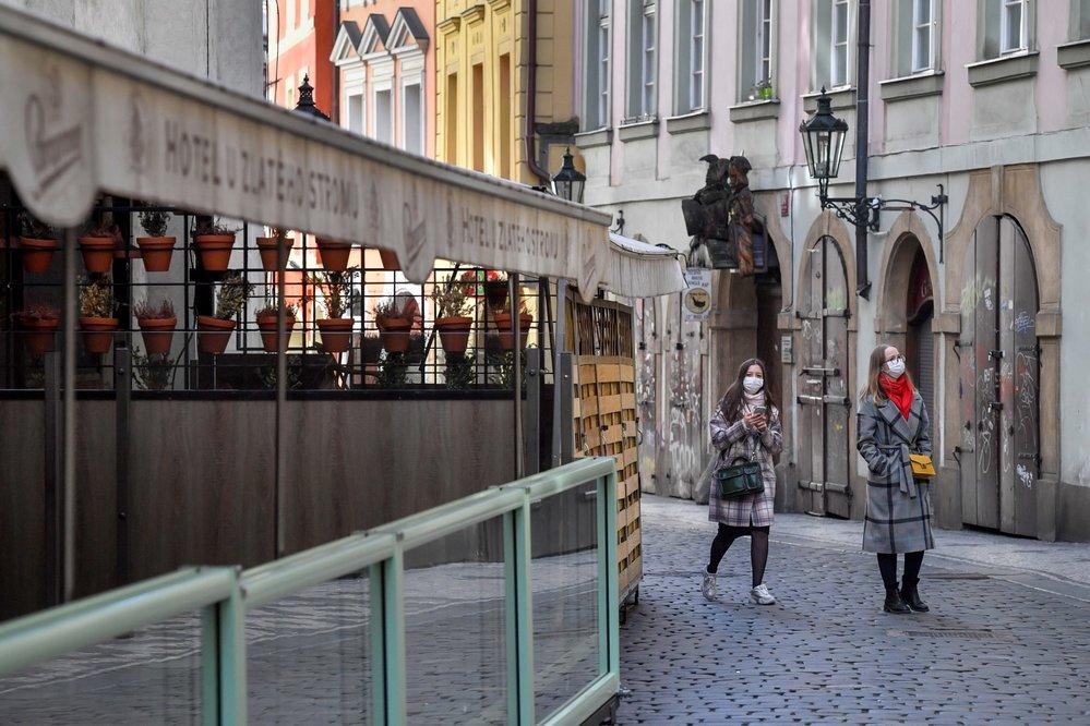 Historické centrum Prahy 16. března 2020.