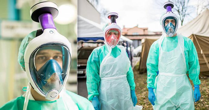 Lékaři z Jindřichova Hradce děkují ČVUT za dýchací masky vyrobené ze šnorchlů. Nápad okopírovali i v zahraničí!