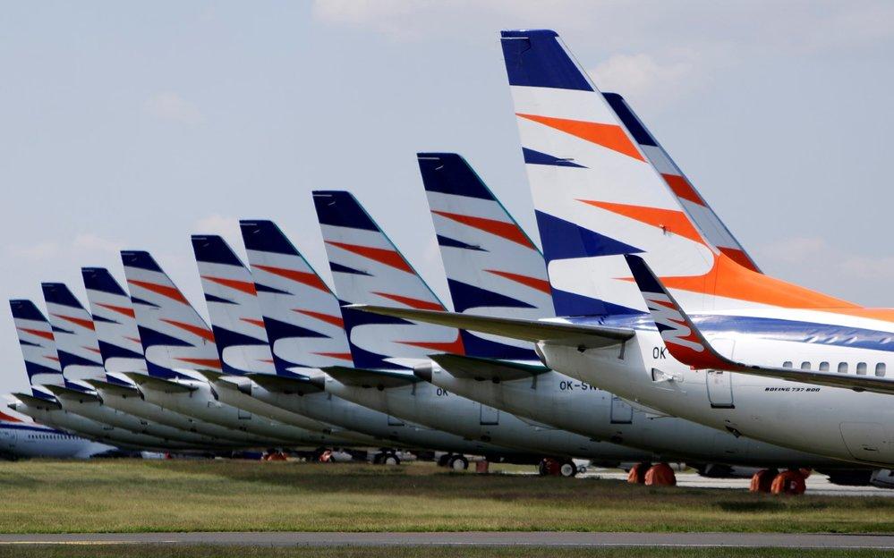 Letadla Smartwings na Letišti Václava Havla Praha (19. 5. 2020)