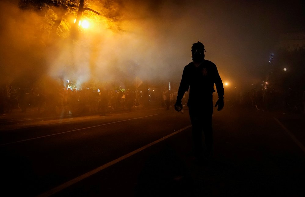 Protesty ve Washingtonu.