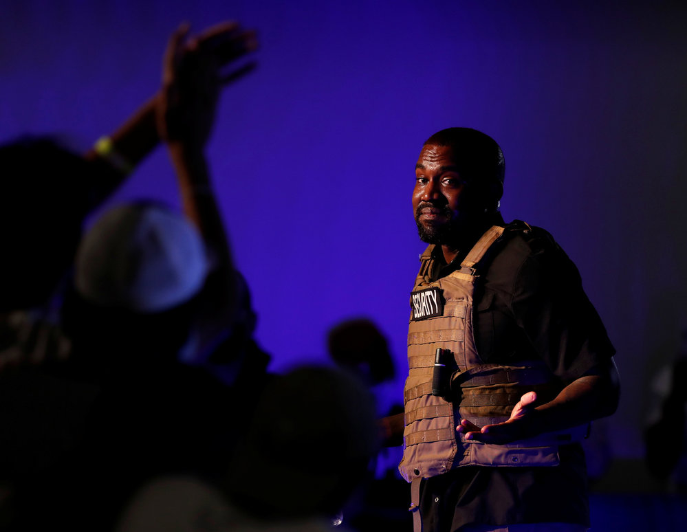 První předvolební mítink rappera Kanyeho Westa.
