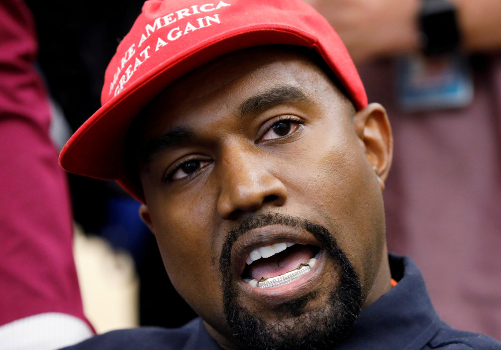 Americký rapper Kanye West.