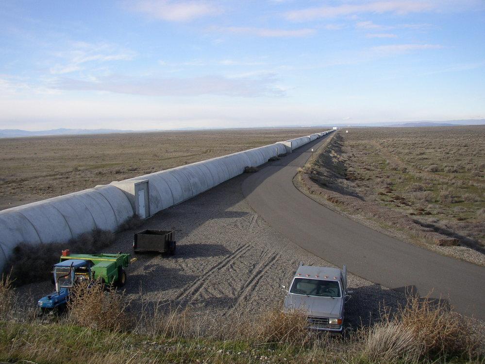 Přístroj LIGO na povrchu