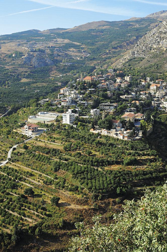 Vzorně upravené maronitské vesničky v horách na severu