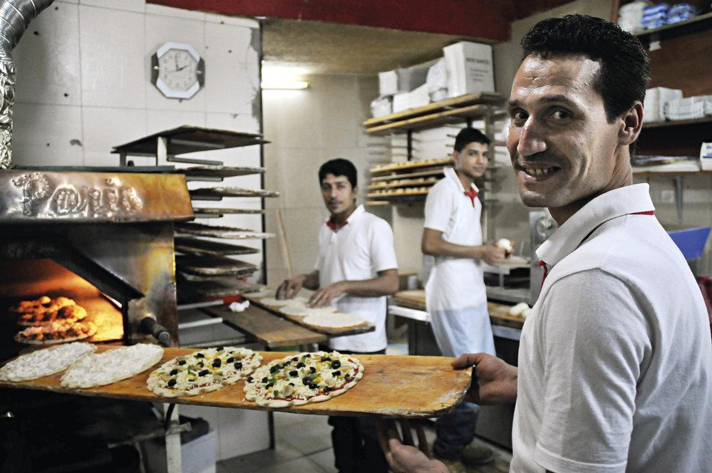 Rychlé občerstvení u Abú Íssy v Bejrútu