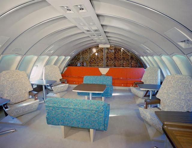 Interiéry letadel byly různorodé, ale vždy luxusní.
