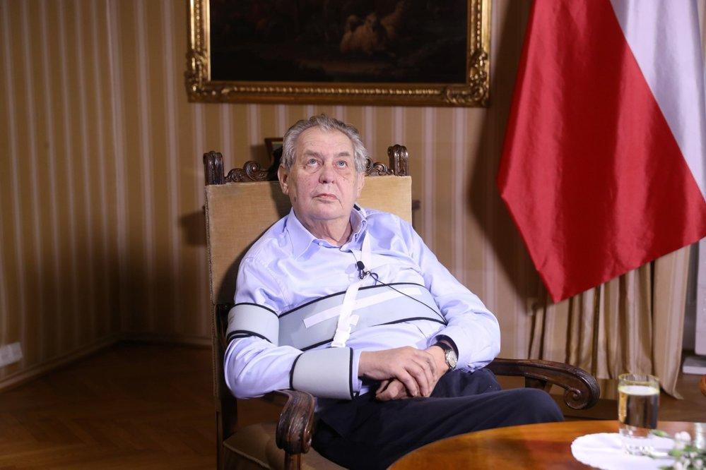 Miloš Zeman v pořadu S prezidentem v Lánech. (11.10.2020)