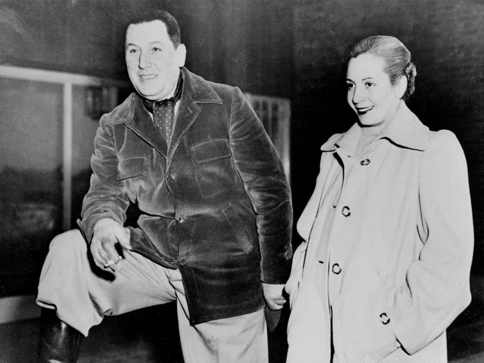 Evita Perón byla vždy po boku svého manžela Juana Peróna.