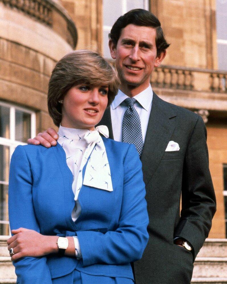 Lady Diana Spencer a Princ Charles právě oznámili své zasnoubení 24. února 1981