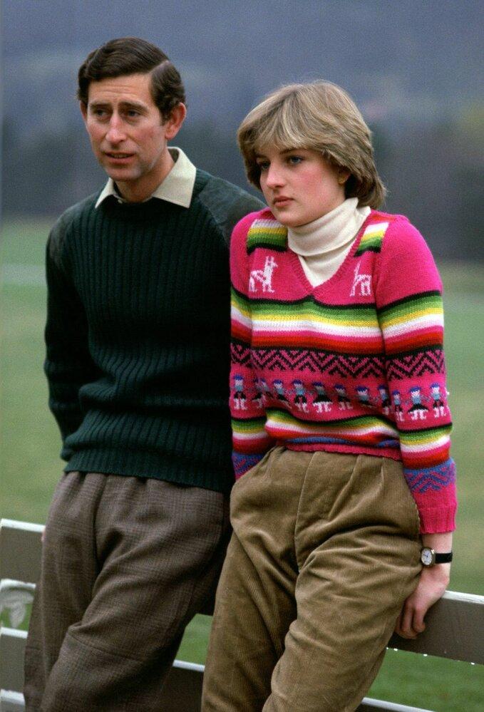 Princ Charles a princezna Diana při návštěvě zámku Belmoral