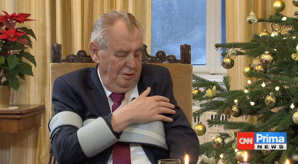 Prezident Miloš Zeman v Partii televize Prima.
