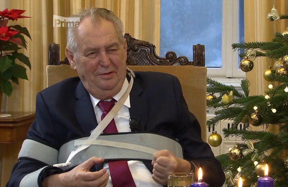 Prezident Miloš Zeman v Partii na Primě