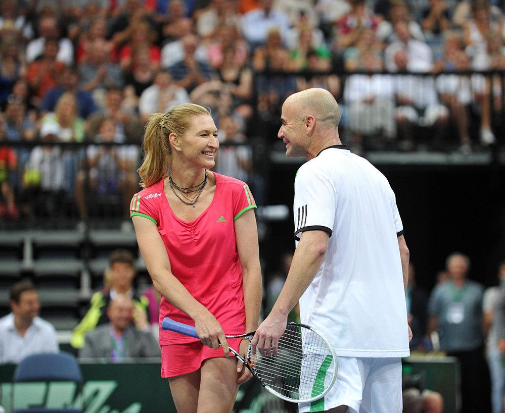 Andre Agassi a Steffi Grafová v roce 2011.