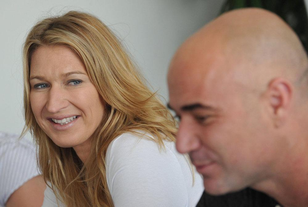 Andre Agass a Steffi Grafová v roce 2011.