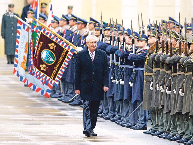 Inaugurace prezidenta Miloše Zemana 2013 - vojenská přehlídka