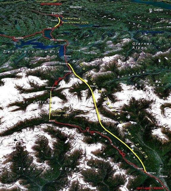 Švýcarsko dokončilo konstrukci nejdelšího tunelu na světě