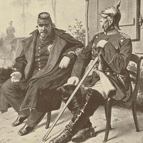 Napoleon III. se vzdává Bismarckovi.