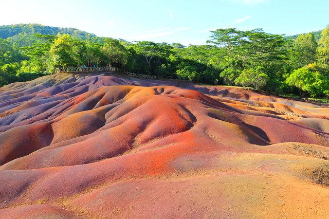 Oblast Chamarel na ostrově Mauricius