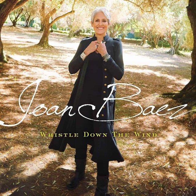 Obal posledního z více než třicítky alb Joan Baezové, Whistle Down The Wind
