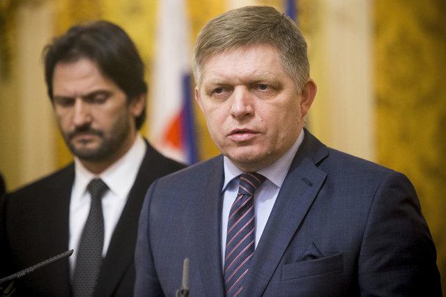 Robert Fico a ministr vnitra Robert Kaliňák