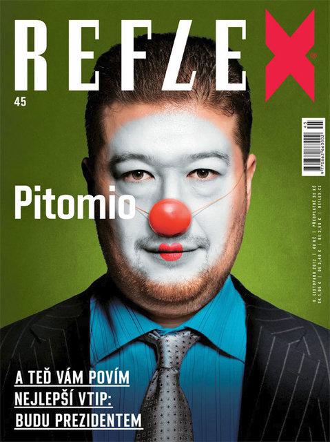 Obálka Reflexu číslo 45 z roku 2012
